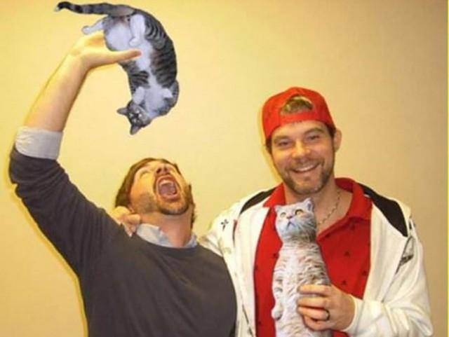 Котики вместо бутылок