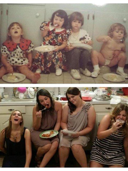 Детские фото спустя годы