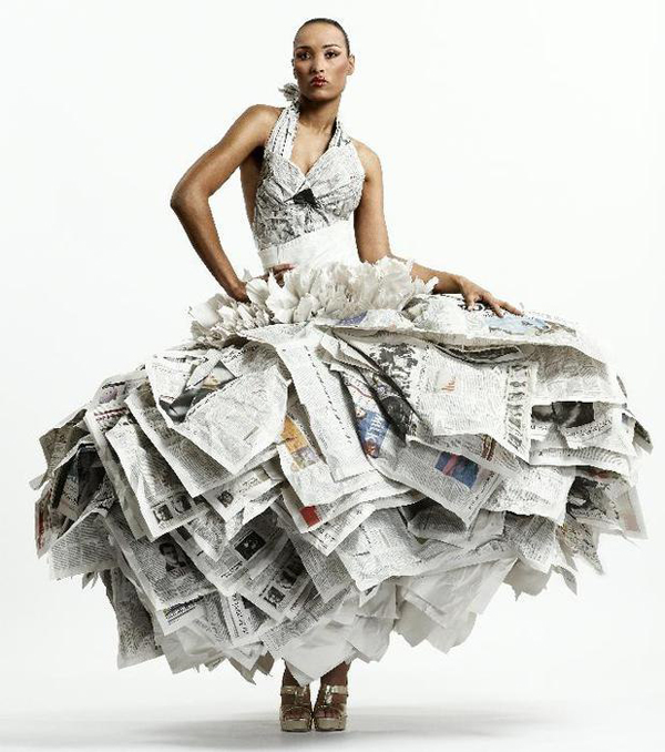 Самые необычные платья / платье из подручных материалов