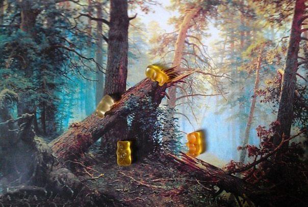 Мармеладные мишки в лесу