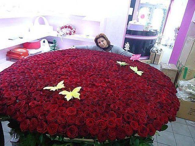 Фото самый огромный букет цветов