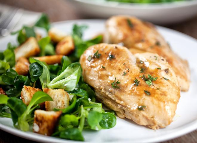 Салат из куриной грудки и помело: вкусный рецепт
