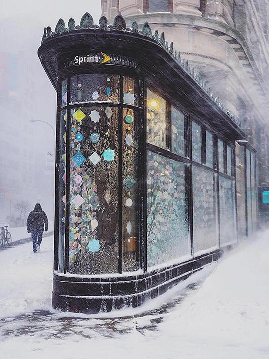 Нью-Йорк в снегу: потрясающие фотографии, напоминающие картины импрессионистов