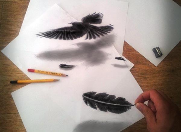 Необычные рисунки на бумаге