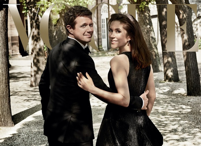 Принц Фредерик и принцесса Мэри на обложке Vogue Australia