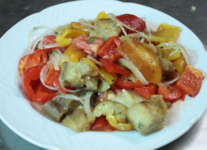 салат на мангале