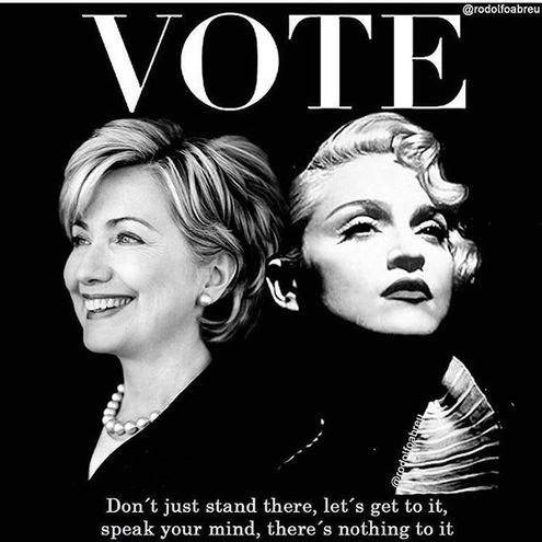 знаменитости голосуют за президента США