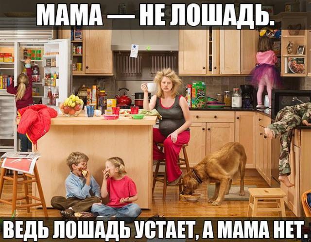 Мама  - не лошадь, она не устает