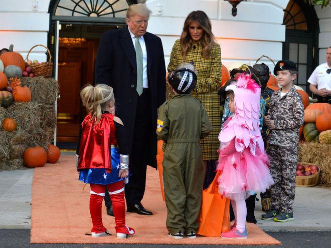 Мелания Трамп Хэллоуин 2018