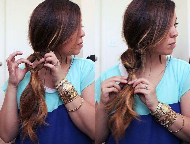 Ложная коса в стиле Рапунцель