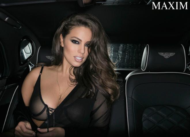 Ешлі Грехем в зйомці Maxim