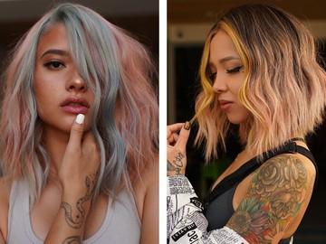 Яркие цвета волос — модное окрашивание 2021