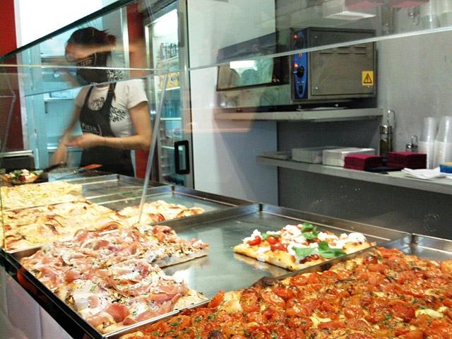 Достопримечательности Рима: Pizza a taglio