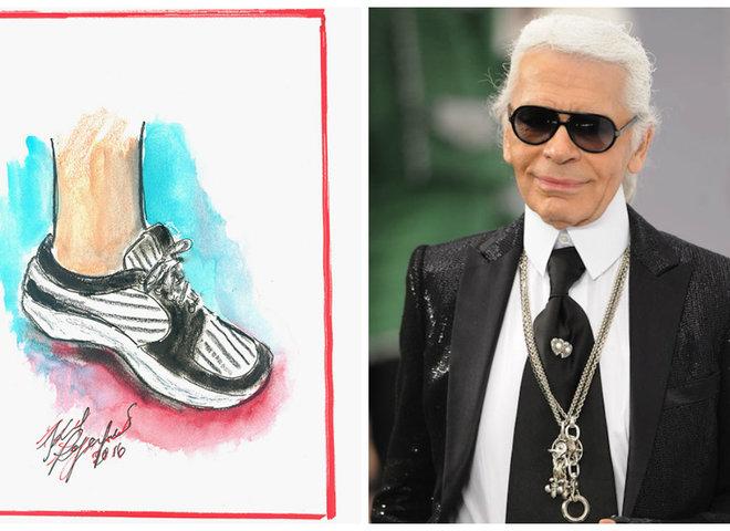 Карл Лагерфельд предлагает новый тренд: персонализация кроссовок