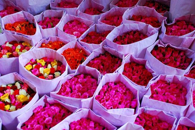 Достопримечательности Бангкока: цветочный рынок Пак Кхлонг