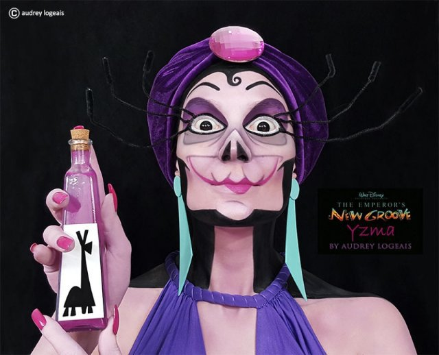 Audrey Logeais превращает обычных людей в героев мультфильмов с помощью макияжа