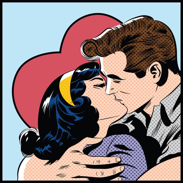 Открытка в День поцелуев