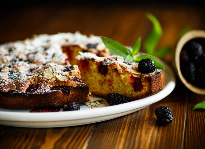 Пирог из шелковицы: пошаговый рецепт