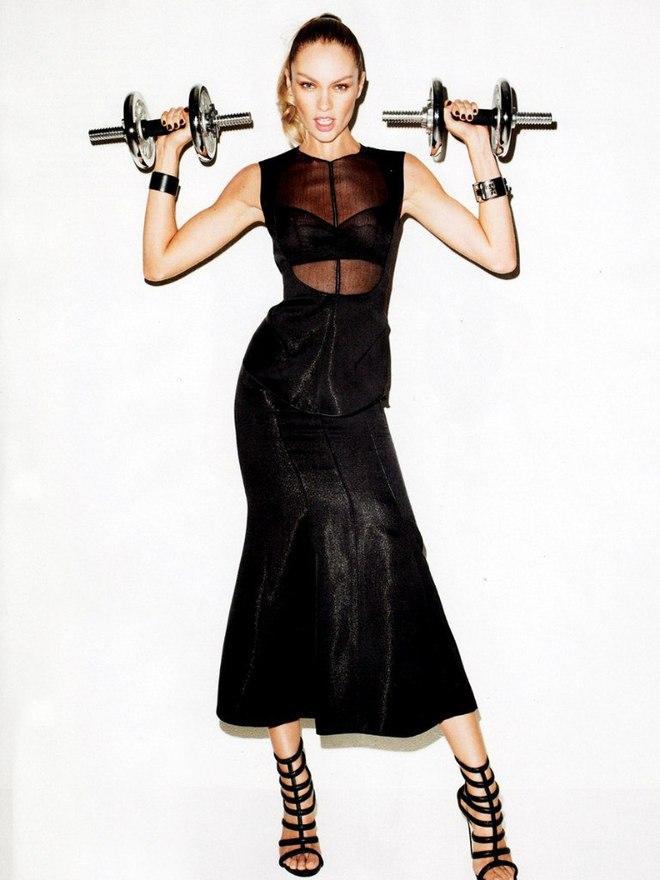 Кэндис Свейнпол для Harper's Bazaar US