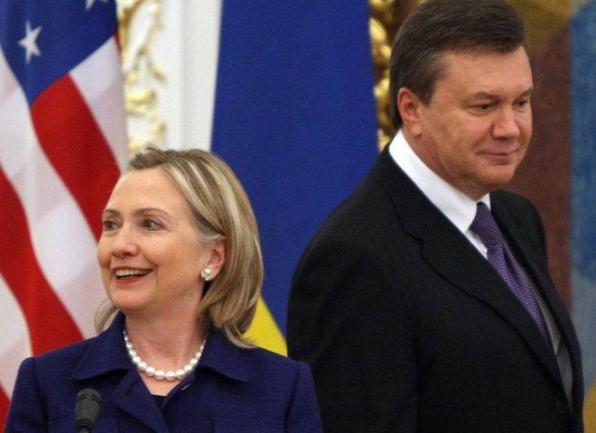 Виктор Янукович, Хиллари Клинтон