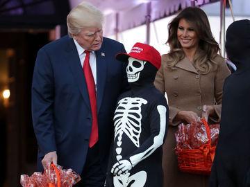 Мелания Трамп Хэллоуин 2017