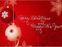 Красивая открытка с Новым годом и Рождеством