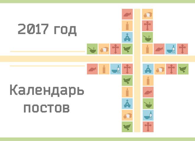 Календар православних постів і трапез на 2017 рік