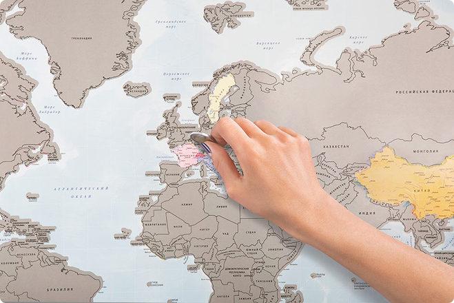 Я був тут: скретч-карта, яка повинна бути у справжнього мандрівника