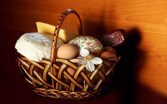 Пасхальные картинки про еды корзинки