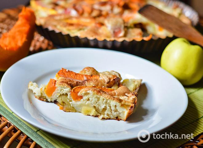Тыквенный пирог с яблоками: вкусно и очень полезно