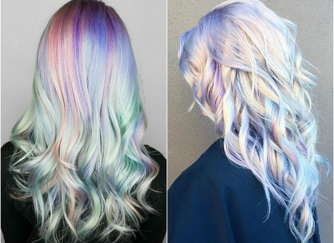 Голографическое окрашивание волос