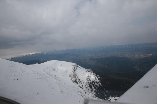 Вид на гори з літака