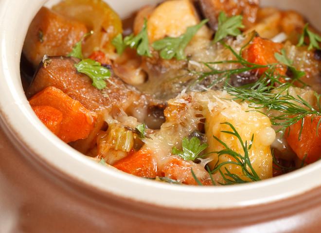 рецепт тушеной капусты и картошки с мясом