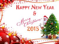 Красивая открытка на Новый год и Рождество 2015
