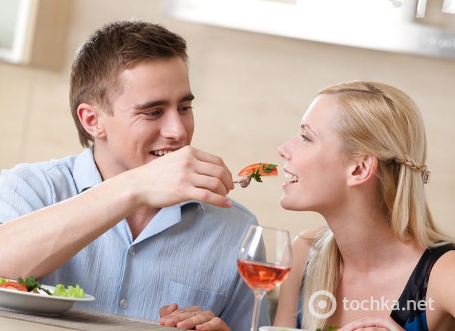 Пара, романтический ужин, любовь, свидание, романтика, чувства, нежность