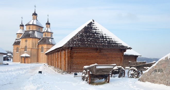Зимний отдых: посети украинские этнокомплексы