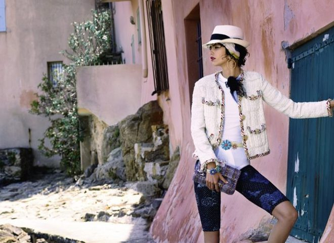Карл Лагерфельд представил кампейн круизной коллекции Chanel