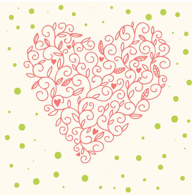 Нежная открытка ко дню Святого Валентина 2015