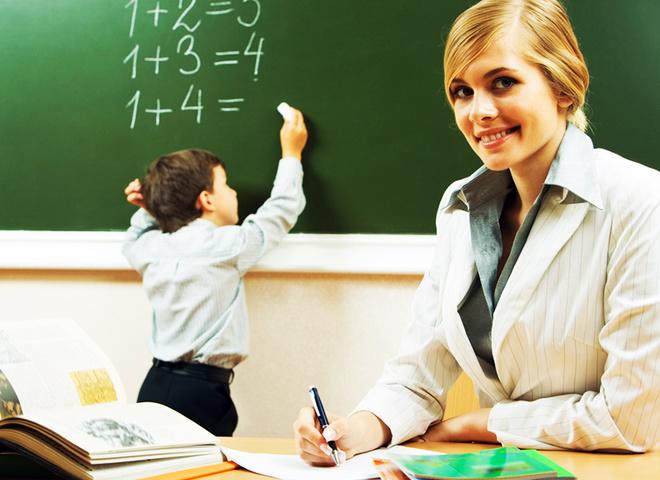 День учителя, учитель, ребенок, класс, математика