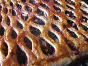 Ягодный пирог из слоеного теста