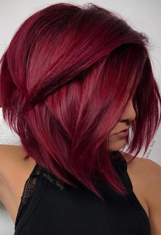 Фарбування волосся весна: винний колір