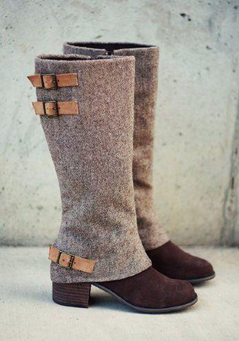 Обувь из твида