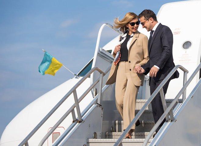 Елена и Владимир Зеленские прибыли в США