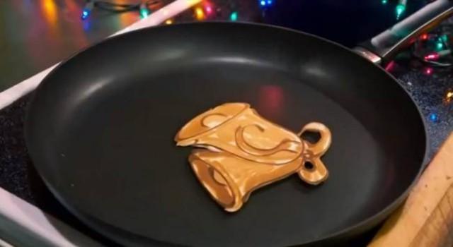 Новогодние шедевры на сковороде от папы