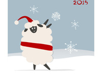 Смешная открытка с овечкой 2015
