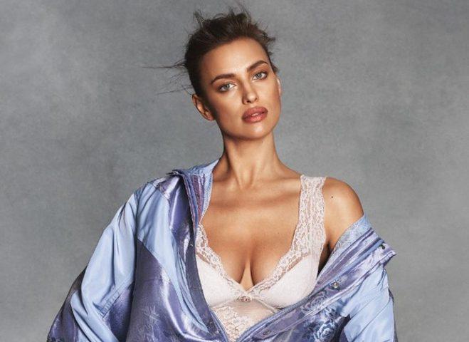 Беременная Ирина Шейк снялась в фотосессии в нижнем белье