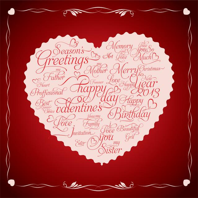 Симпатичная открытка на День Святого Валентина 2015