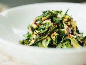 Салат из кабачков с медово-лимонной заправкой