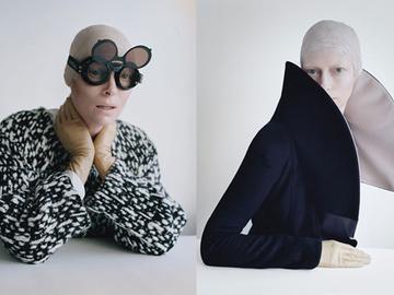 Эпатажная fashion-съемка с Тильда Суинтон