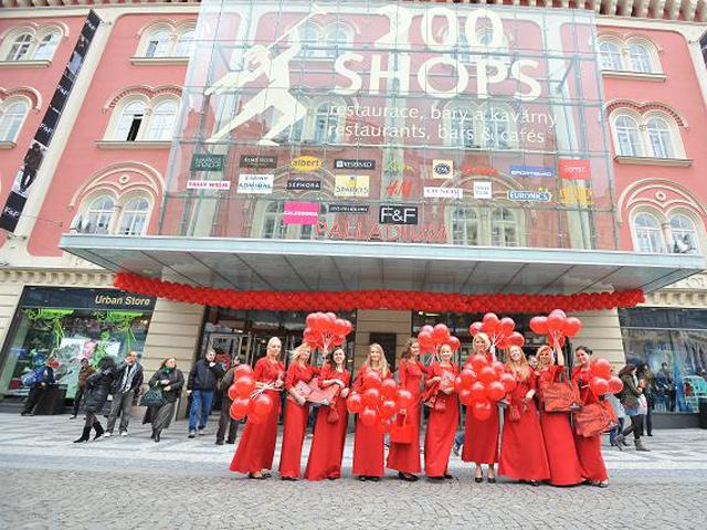 Рождественские распродажи 2013-2014 в Праге. Шопинг-центр Палладиум.